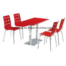 Dining Restaurant Furniture Set in Red