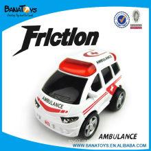 Caricatura, fricção, carro, brinquedos, ambulância