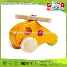 2015 Деревянная модель желтого цвета, мини-плоские игрушки