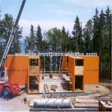 Prefab Estructura de acero Edificio Modular Edificio Contenedores de oficinas Casas prefabricadas