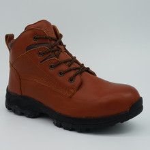 Genuine Leather Men Safety Shoes Outdoor Working Shoes with Steel Toe