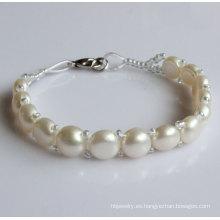 Regalo de agua dulce natural natural de la pulsera de la perla (EB1526-1)