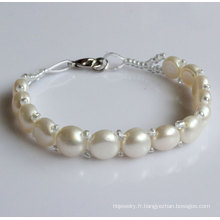 Cadeau Bracelet à perles d'eau douce naturel bon marché (EB1526-1)