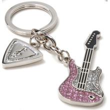 The guitar couple keychains