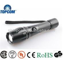 Hochleistungs-Cree LED-Taschenlampe mit Objektivträger 3 AAA-Batterien