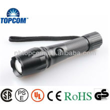 Lampe de poche LED haute puissance avec faisceau de lentille 3 piles AAA