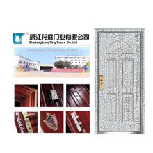 Puerta blindada con superficie fuerte y clásica
