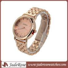 Rosegold Plating Pink Dial Lady Brand Quartz Watch
