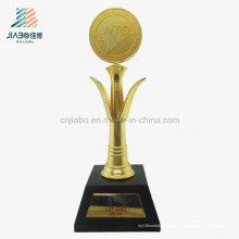 Le trophée de l'OMC de coutume de décoration de souvenirs d'artisanat en métal de moulage de haute qualité