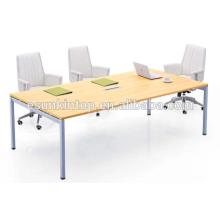 Projeto de mesa de reunião de escritório design de mesa MDF
