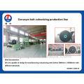 Rubber conveyor belt production line