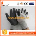 Nylon gris avec gant en mousse de nitrile noire-Dnn712