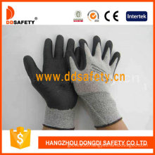 Grey Nylon with Black Nitrile Foam Glove-Dnn712