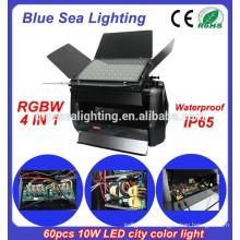 Мощный DMX 60pcs 10w 4 в 1 RGBW