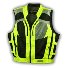 100% Polyester Mesh and Knitting Fabric Safety Vest with Caution Tape