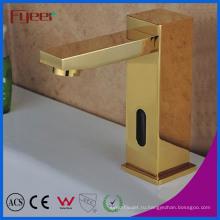 Fyeer роскошные Золотые холодной водой Автоматический Датчик Кран (QH0116G)