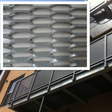 Malla de metal expandido de aluminio Flattend