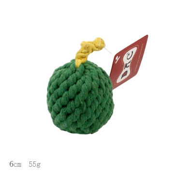 Green Apple Braided Cotton Rope Dog Chew Toy