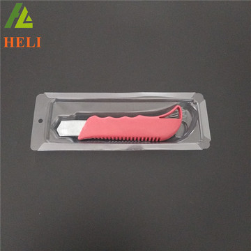 Boîte d'emballage en plastique personnalisée couteau cutter