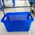 Unbreakable Single Handle Commercial Plastic Shoppng Baskets