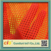 Tecido laranja tecido de malha para colete de segurança