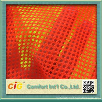 Tissu en maille en tissu orange pour voile de sécurité