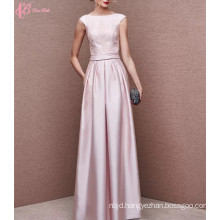2017 Elegant Pink A Line Open Back Long Evening Dress Party Dresses
