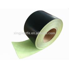 260C resistente ao calor jumbo rolo ptfe fita de fibra de vidro com adesivo de silicone feito na china com papel de liberação