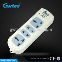 Made in china 2 pinos 3 pinos adaptador cabo de extensão elétrica