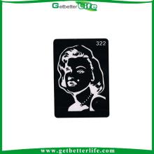 paillettes réutilisable de 2015 getbetterlife vente chaude tatouage tatouage de pochoirs/pochoir tatouage pochoir/glitter