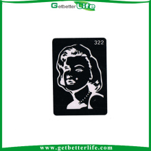 2015 getbetterlife brilho de reutilizáveis venda quente tatuagem tatuagem de estênceis stencil de tatuagem do estêncil/brilho