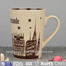 Diseño de color taza de cerámica esmaltada