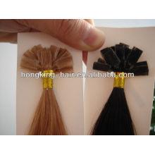 Extensión del pelo de la punta plana del precio de fábrica del pelo virginal al por mayor del pelo largo de la queratina del tiempo
