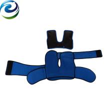2018 nuevo diseño de terciopelo de PVC laminado caliente cuello frío hombro