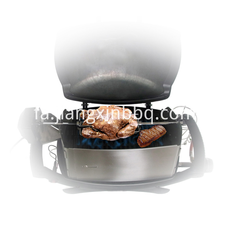 Universal Rotisserie Kit Fits For Weber Burning