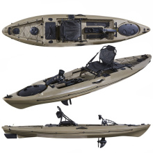 LSF Single 12FT Fishing Foot Pedal Drive Plastic Kayak