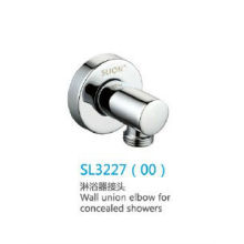 Wall union elbow for concealed showers