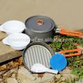 Artículos al aire libre de la fiesta del arce-1 1-2 persona portátil Camping ollas senderismo bote práctico al aire libre ollas del fuego