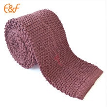 Knitted Silk Neck Tie Fabric With Embroidered Logo