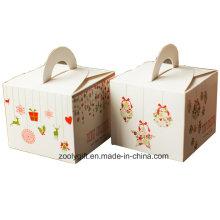 Mini Noël Papier d'impression Boîte à provisions en carton en cupcake