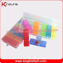 Plastic 21-Cases Pill Box Manufacturering (KL-9140)
