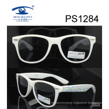 White Frame Star Patten Kid Plastic Sunglasses (PS1284)