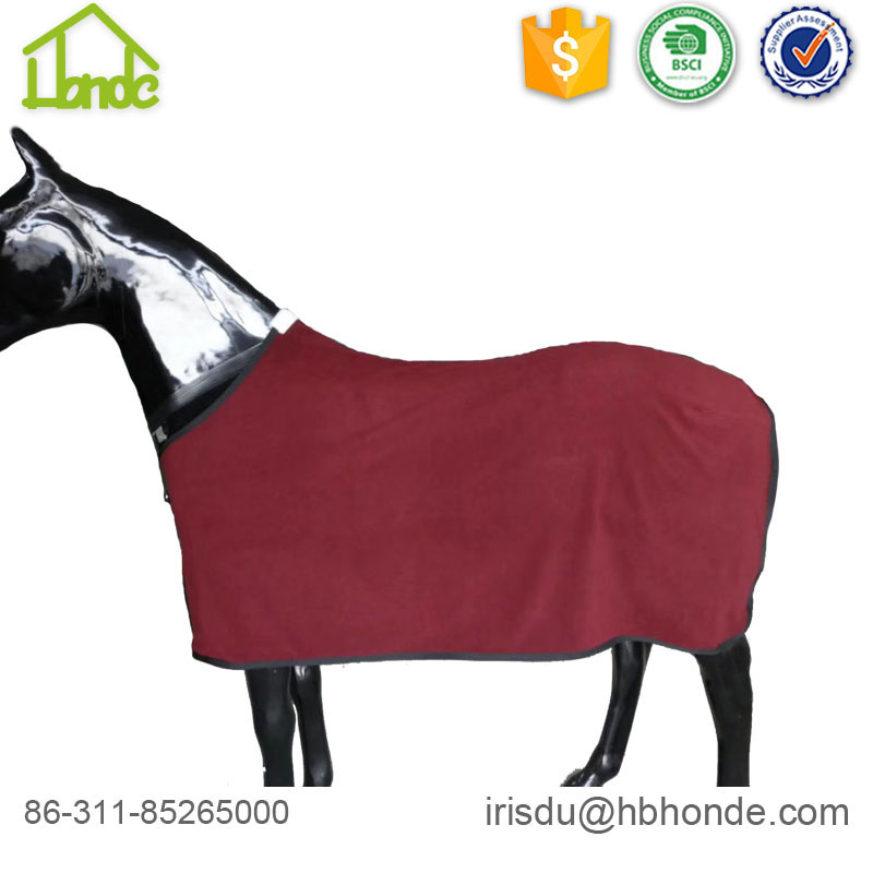 dark blue polar fleece horse rug