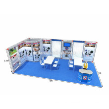 design & cusomtize reusable Shanghai exhibition stand / booth displays for sale