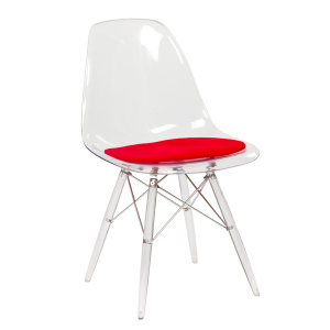 Transparent Eames Armless Chair