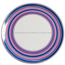 Assiette ronde en rondelle en mélamine avec logo (PT7248)