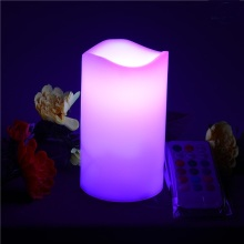 Daya baterai yang dioperasikan pilar lilin LED