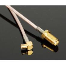SMA Straight Jack to MCX Conector macho de ángulo recto para ensamblaje de cables Rg316