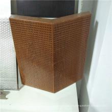Paneles de panal acústico de aluminio de color de madera perforada
