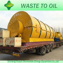 Plástico residual de Sole Lab HuaYin que recicla a la máquina del aceite con la mini planta corriente
